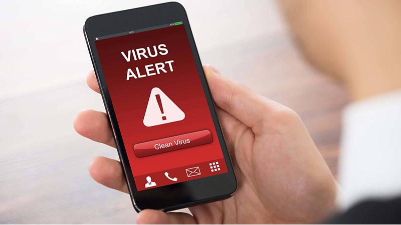 Điện thoại nhiễm virus gây lỗi