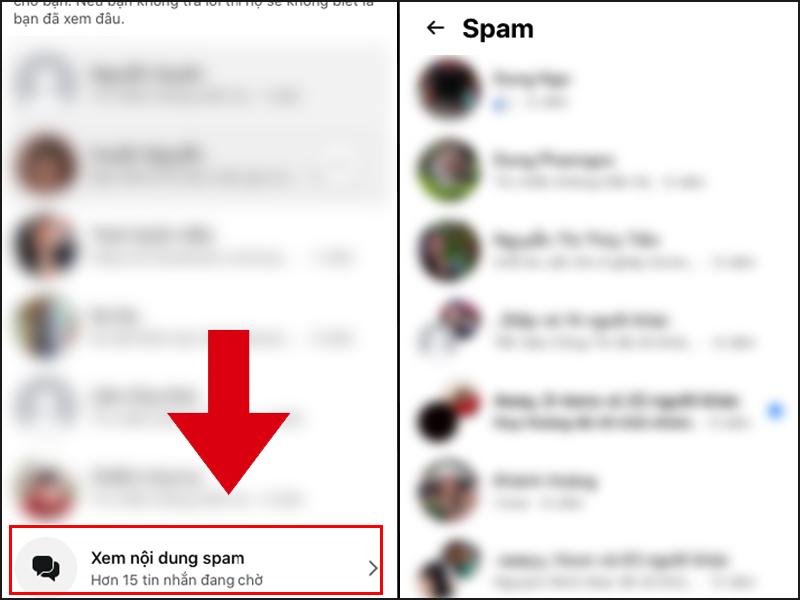 Nhấn vào để xem các tin nhắn bị bỏ qua