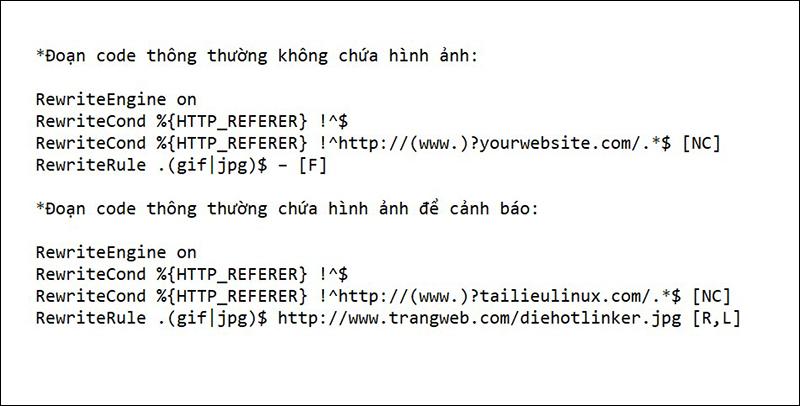 Code chống ăn cắp băng thông