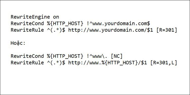Website tự động chèn www vào address bar