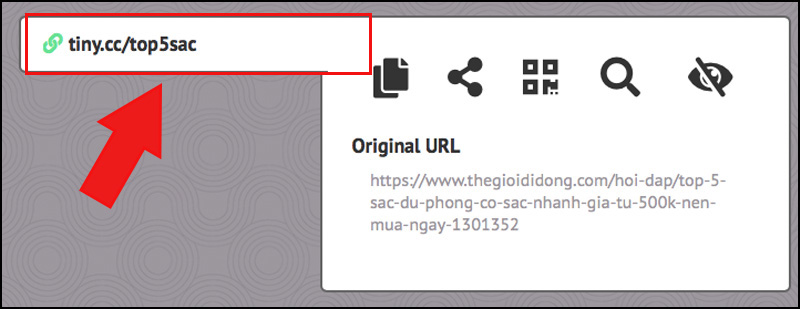 Link tiny.cc rút gọn