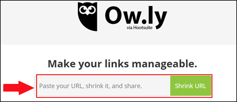 Rút gọn link bằng ow.ly