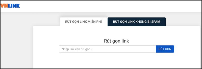 Rút gọn link bằng vnlink.top