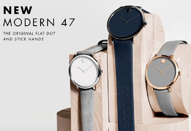 Đồng hồ Movado Modern 47 mang nét mới mẻ, trẻ trung
