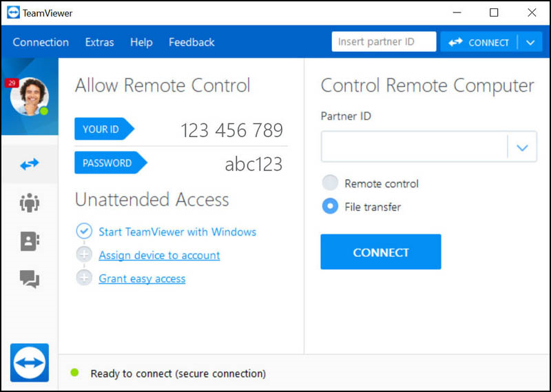 TeamViewer có giao diện đơn giản, dễ sử dụng