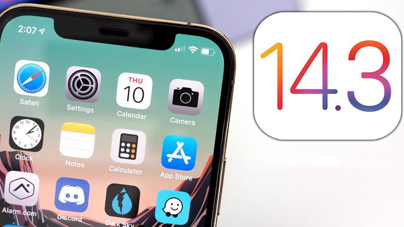 Thiết bị tối thiểu chạy hệ điều hành iOS, iPadOS, tvOS 14.3 và watchOS 7.2