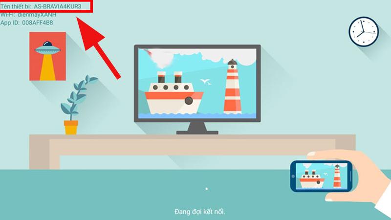 Giao diện AirScreen cũng sẽ hiển thị tên thiết bị kết nối