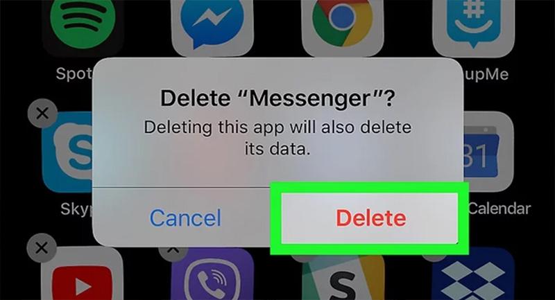 Xóa và cài đặt lại ứng dụng Messenger